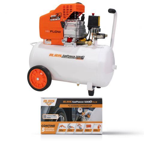 Pachet compresor și kit accesorii<span> RURIS AirPower 5000PLUS